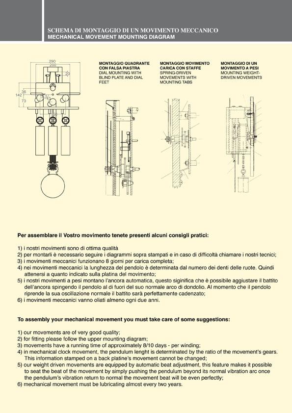 sceda tecnica movimenti meccanici